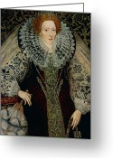 Elizabethan Greeting Cards - Queen Elizabeth I Greeting Card by John the Younger Bettes
