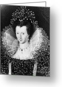 Bess Greeting Cards - Queen Elizabeth I Greeting Card by Omikron