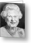 British Royalty Greeting Cards - Queen Elizabeth Greeting Card by Joyce Geleynse