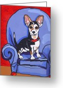Dog Prints Greeting Cards - Queen Lucy Greeting Card by Laura Brightwood