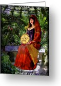 Disks Greeting Cards - Queen of Pentacles Greeting Card by Tammy Wetzel