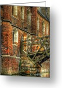 Old England Greeting Cards - Queens College And Mathematical Bridge Greeting Card by Yhun Suarez
