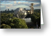 New York City Map Greeting Cards - Queens New York City - Unisphere Greeting Card by Frank Romeo