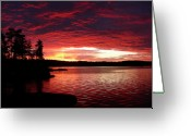 Storm Cloud Greeting Cards - Quetico Sun Rise Greeting Card by Peter  McIntosh