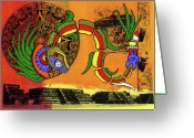 Mayan Mythology Greeting Cards - Quetzalcoatl Greeting Card by David Dionisio