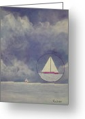 Lakes Pastels Greeting Cards - Quiet Before The Storm Greeting Card by Richard Van Order