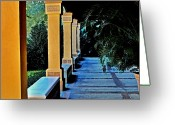 Lyle  Huisken Greeting Cards - Quiet Garden Greeting Card by Lyle  Huisken