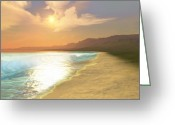 Coastline Greeting Cards - Quiet Places Greeting Card by Corey Ford