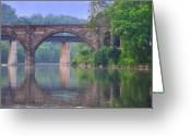 Fairmount Park Greeting Cards - Quiet River Greeting Card by Bill Cannon
