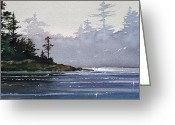 Print Landscape Greeting Cards - Quiet Shore Greeting Card by James Williamson