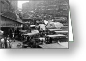 Faneuil Greeting Cards - Quincy Market from Faneuil Hall - Boston - c 1906 Greeting Card by International  Images