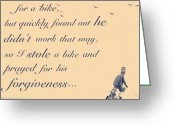 Bicycle Greeting Cards - Quote Of The Moment Greeting Card by Casi Wonderland