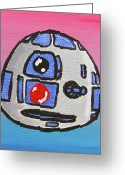 Goofy Greeting Cards - R2-d2 Greeting Card by Jera Sky