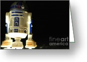 George Lucas Greeting Cards - R2-d2 Greeting Card by Micah May