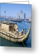 Thor Photo Greeting Cards - Ra-2 Papyrus Boat, Morocco Greeting Card by Ria Novosti