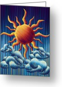Sunny Days Greeting Cards - Ra of Winter Greeting Card by Waylan Loyd