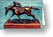 Still Life Sculpture Greeting Cards - Race for Life Greeting Card by Nancy Degan