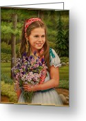 Ruth Gee Greeting Cards - Rachel Greeting Card by Ruth Gee