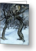 Rackham Greeting Cards - Rackham: Whisper Trees Greeting Card by Granger