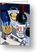 Beer Greeting Cards - Radford Red and White Greeting Card by Christopher Mize