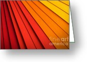 Radial Design Greeting Cards - Radial Background Greeting Card by Carlos Caetano