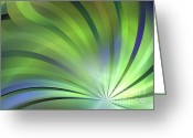 Palm Leaf Digital Art Greeting Cards - Radial Greeting Card by Kim Sy Ok