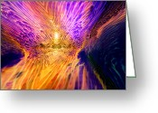 Valuable Mixed Media Greeting Cards - Radiant Flow Greeting Card by Jason Fish