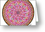 Spiritual Art Pastels Greeting Cards - Radiant Sun Greeting Card by Marcia Lupo