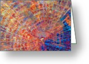 Abstract Impressionism Photo Greeting Cards - Radiation Greeting Card by Bill Morgenstern
