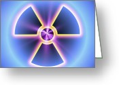Precaution Greeting Cards - Radiation Warning Sign Greeting Card by Pasieka