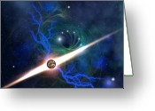 Comet Greeting Cards - Radient Energy Greeting Card by Corey Ford