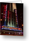 Rink Greeting Cards - Radio City Music Hall Cirque du Soleil Zarkana Greeting Card by Lee Dos Santos