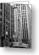 New York New York Com Greeting Cards - Radio City Music Hall Greeting Card by John Rizzuto