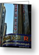 Cirque Soleil Greeting Cards - Radio City Music Hall Greeting Card by Paul Ward