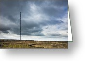 Communicating Greeting Cards - Radio Tower in Field Greeting Card by Jon Boyes