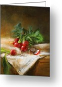 Cooks Illustrated Painting Greeting Cards - Radishes Greeting Card by Robert Papp