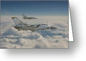 Jet Greeting Cards - RAF Tornado Greeting Card by Pat Speirs