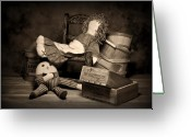 Used Greeting Cards - Rag Doll Greeting Card by Tom Mc Nemar