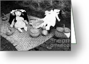 Wicker Baskets Greeting Cards - Rag dolls Greeting Card by Gaspar Avila