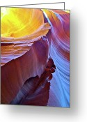 Peter Lik Greeting Cards - RAGGED EDGE in Lower Antelope Canyon Greeting Card by Ruth Hager