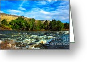 River Flooding Greeting Cards - Raging River Greeting Card by Robert Bales