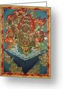 Thanka Greeting Cards - Rahula Greeting Card by Sergey Noskov