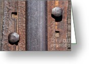 Train Track Greeting Cards - Rail Detail Greeting Card by Dan Holm