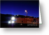 Freight Greeting Cards - Rail Power - Union Pacific Engine Greeting Card by Steven Milner