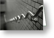 Brick Greeting Cards - Railing On Wall Greeting Card by Colin Barey