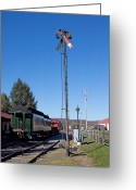 Berks County Greeting Cards - Railroad Signal Greeting Card by Robert Sander