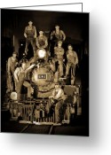 Roundhouse Greeting Cards - Railroad Staff Greeting Card by Patrick  Flynn