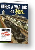 Second Greeting Cards - Railroad Workers Urgently Needed Greeting Card by War Is Hell Store