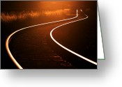 Curves Greeting Cards - Railroads Greeting Card by Thomas Splietker
