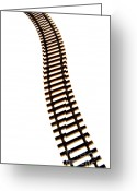 Close-ups Greeting Cards - Railway tracks Greeting Card by Bernard Jaubert